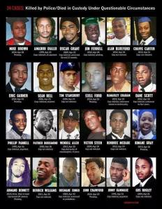 Police killings with no convictions.  (photo credit:  Facebook)